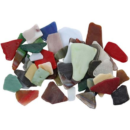 Stained Glass Mosaic Pieces 8-20 x 100grams